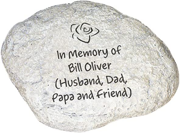 GiftsForYouNow Engraved Any Message Personalized Memorial Garden Stone