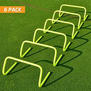 "6"" SPEED HURDLES (Set of 6) - Football/Soccer/Multi Sport Speed Training [Net World Sports] (6 inch)"
