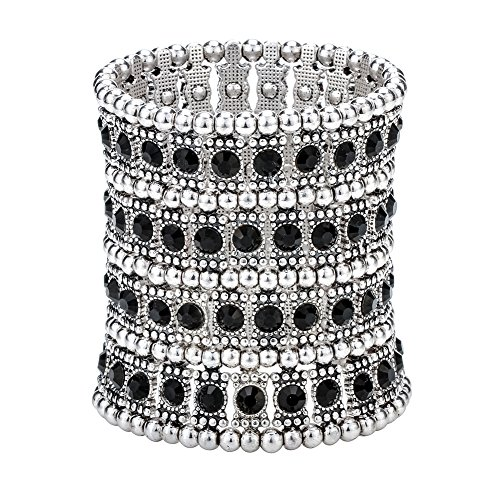Hiddleston Multilayer 4 Row Jewelry Gothic Stretch Bracelet Sleeve Arm Cuff Rocker Wristband Heavy Metal Bobo Halloween Costume Women Accessory -