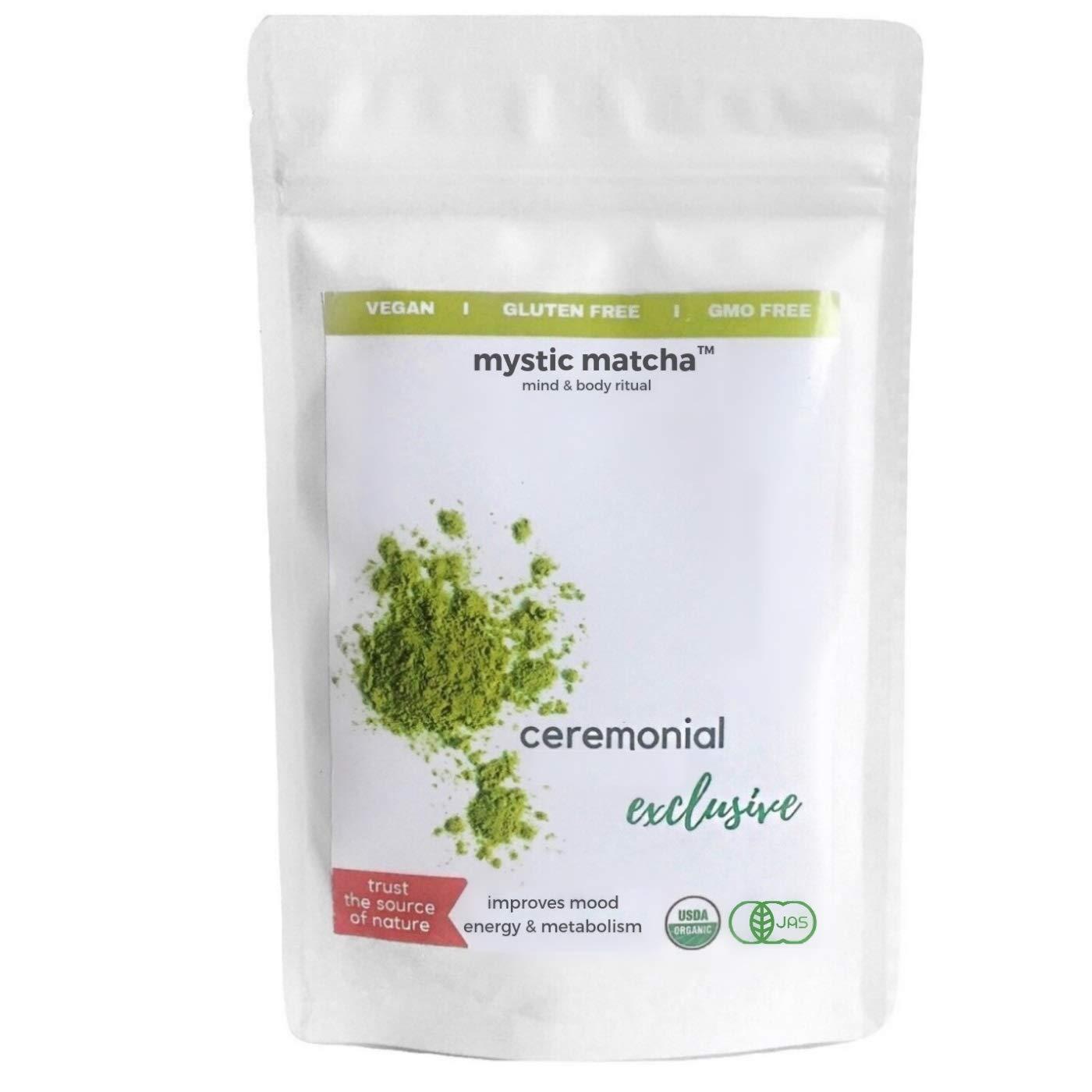 ORGANIC JAPANESE MATCHA - 100g - Green Tea Powder Exclusive Ceremonial by MysticMatcha™