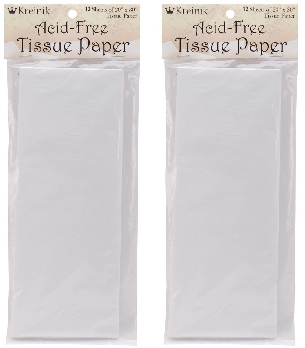 2 Pack Kreinik 12 Sheets of Acid Free Tissue Paper 20 by 30-Inch