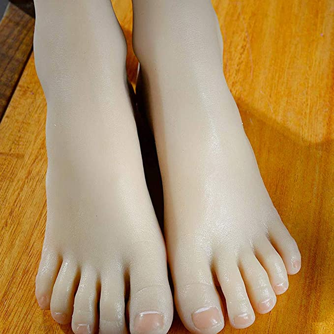 1:1 silicone clone girls foot Feet Model Sculpture whitening skin small size