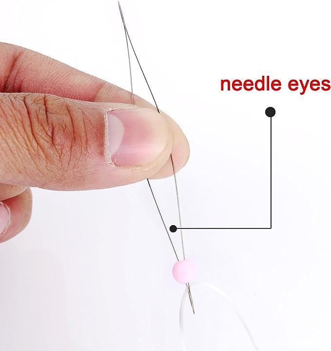 3 Gr/ö/ßen Shappy 6 St/ück Big Eye Perlen Nadeln mit Nadel Flasche