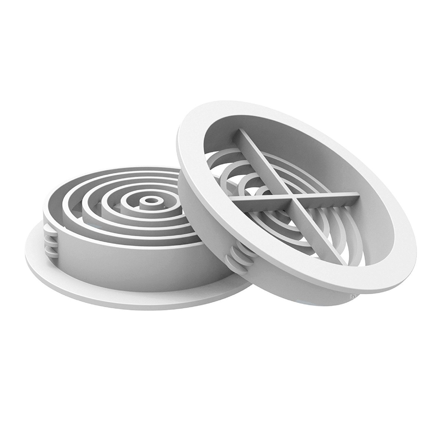 4 x 70mm White Plastic Round Soffit Air Vents/Upvc Push in Roof Disc/Fascia Manthorpe