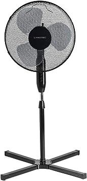 TROTEC Ventilador de Pie TVE 17 S/Silencioso / 40 W/Negro/Altura ajustable / 3 Velocidades de Ventilación/Oscilación automática de 80° / Pie de Apoyo de gran Estabilidad: Amazon.es: Bricolaje y herramientas