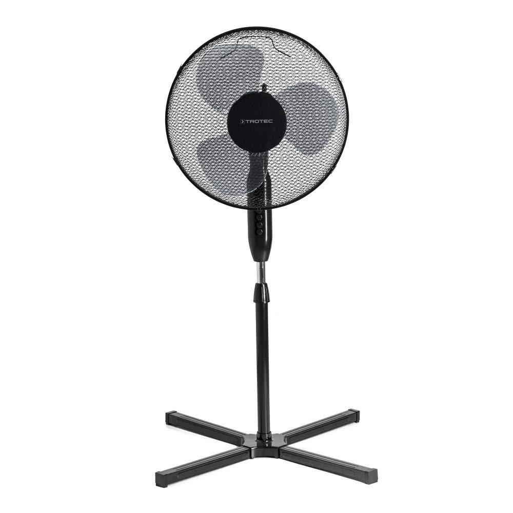 TROTEC/ /Ventilatore a piantana TVE 17/S pale di 40/cm di diametro spegnimento automatico funzione oscillazione di 80/° altezza regolabile da 105/a 122/cm colore nero