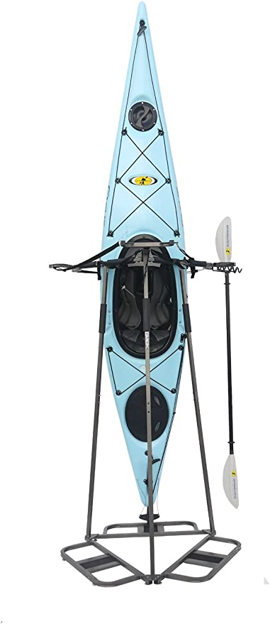 Samger 4 Pcs Kayak Rack Canoe Hanging Carrier Wall Bracket Paddle Storage