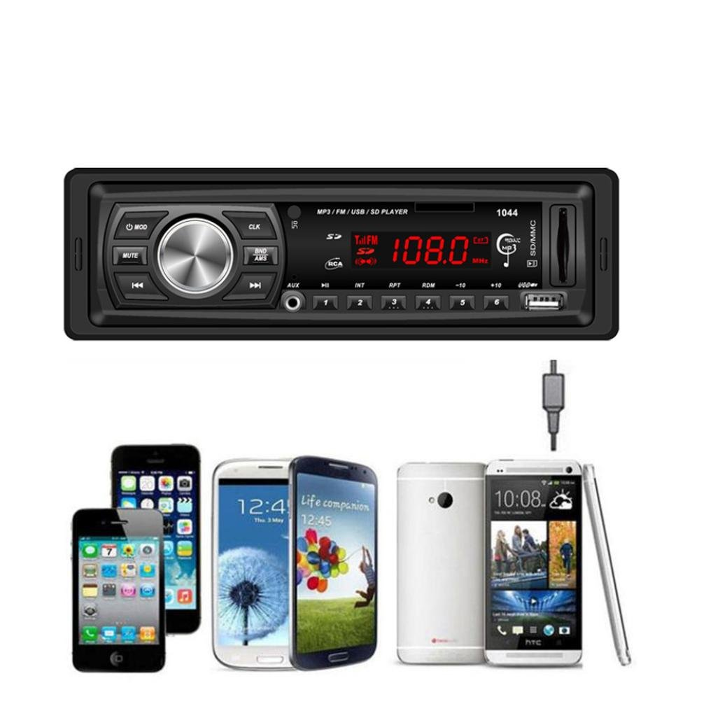 Car Audio Receiver, Doinshop Digital Media In Dash Bluetooth Unit MP3/USB/SD/MMC 1044