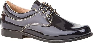 Zapatos de niño para Ceremonia. Zapato Fabricado en Piel y Hecho en España - Mi Pequeña Modelo 1812 Color Azul Marino.: Amazon.es: Zapatos y complementos