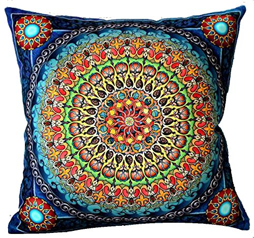 Andreannie European Colorful Retro Floral Bohemian Ethnic St