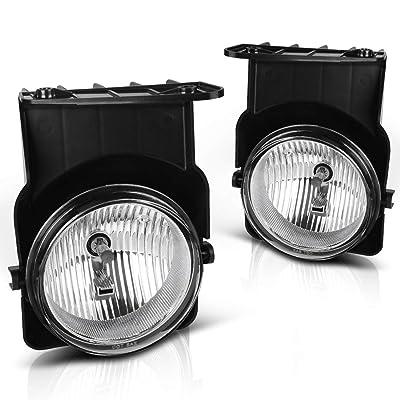 AUTOSAVER88 Fog Lights H10 12V 42W Halogen Lamp Compatible with 05-07 Chevy Silverado/05-07 GMC Sierra: Automotive