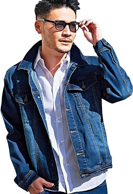 (キャバリア)CavariA メンズ デニムジャケット ジージャン Gジャン スーパーストレッチ 伸縮性 CATN21-09【+】
