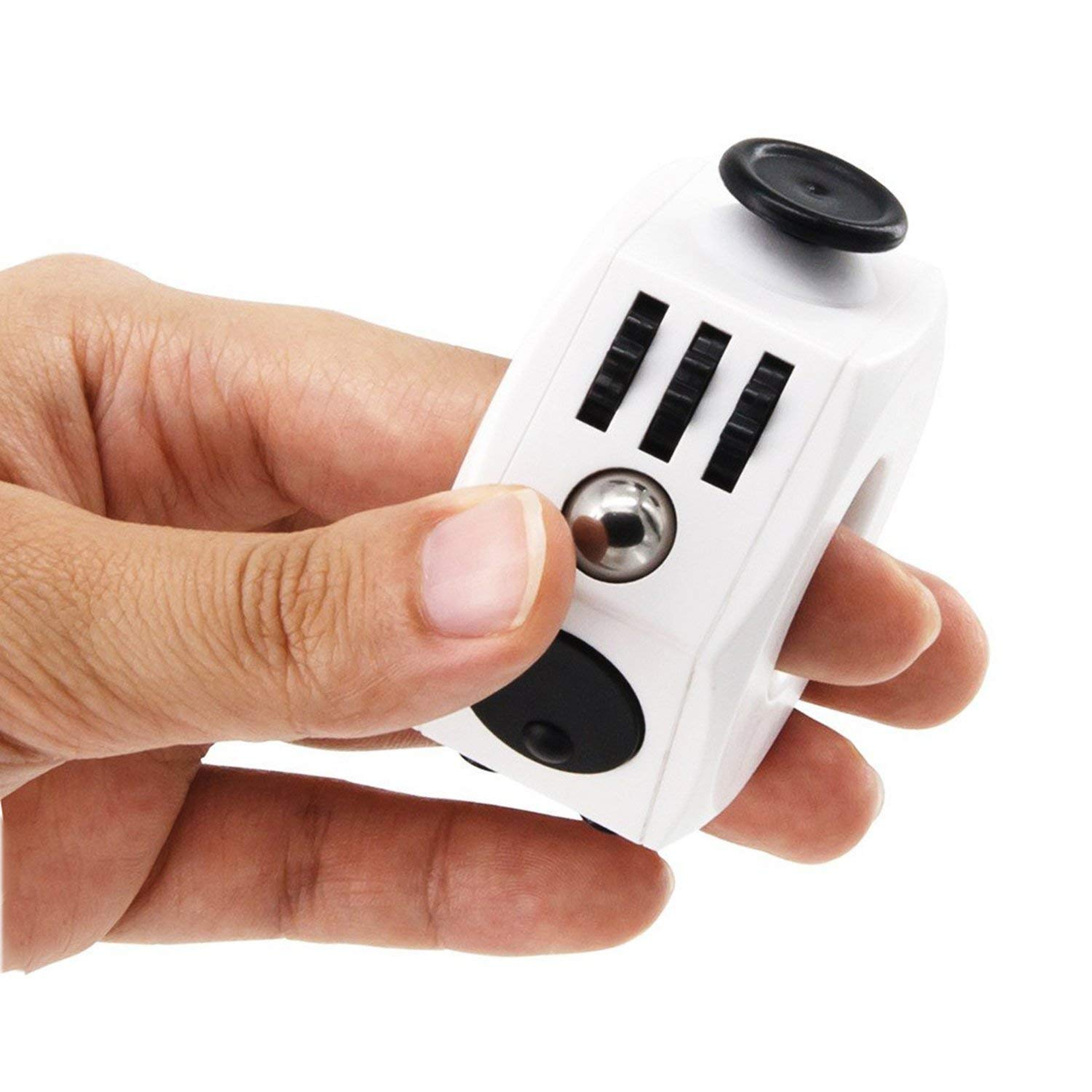 Chemstar Fidget Cube Decompression Ring Anxiety Cube Toy Relieves Stress and Anxiety and Relax for Children and Adults Black