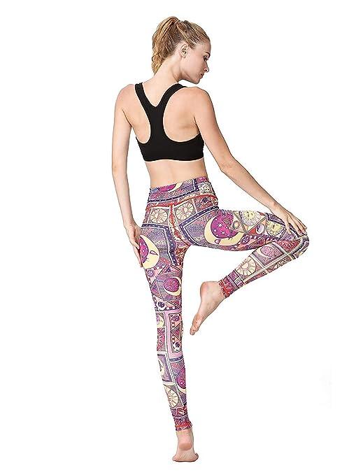 LZY Pantalones de yoga estampados para mujer Leggings ...