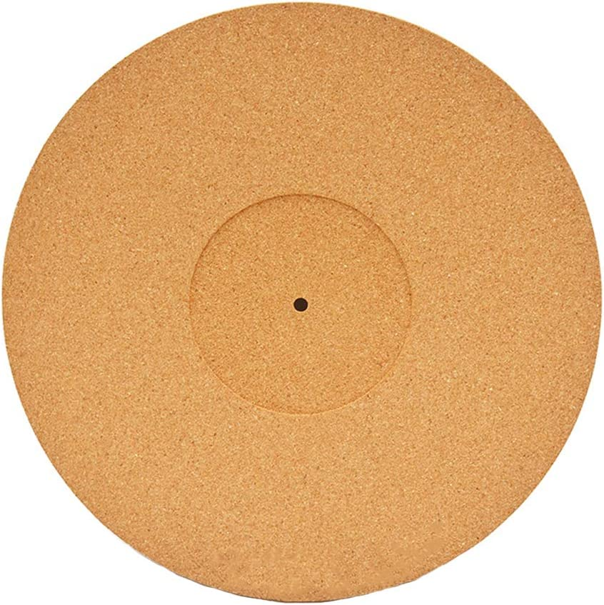 Practical Record Players Reduce Noise Cork Turntable Mat High Fidelity Cork Turntable Mat Accessories Almabner Cork Turntable Mat