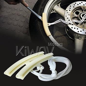 KiWAV Herramienta reparar LLANTA RUEDA PROTECTOR Wheel Rim Protector para motocicleta scooter bicicleta ATV: Amazon.es: Coche y moto
