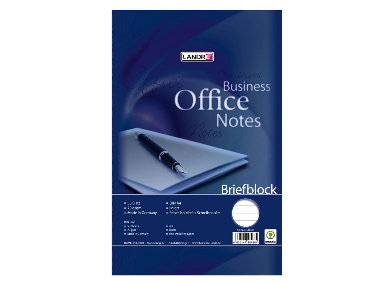 Landre 100050265 Briefblock Office - Libreta A4, 50 hojas ...
