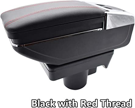 ARMREST CENTRE CONSOLE UNIVERSAL BLACK LEATEHR ARM REST FOR OPEL VECTRA ASTRA .