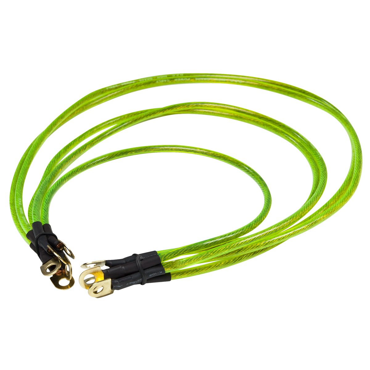 Universal Car Copper Battery To Ground Grounding Cables (Shine Yellow) Auto Dynasty