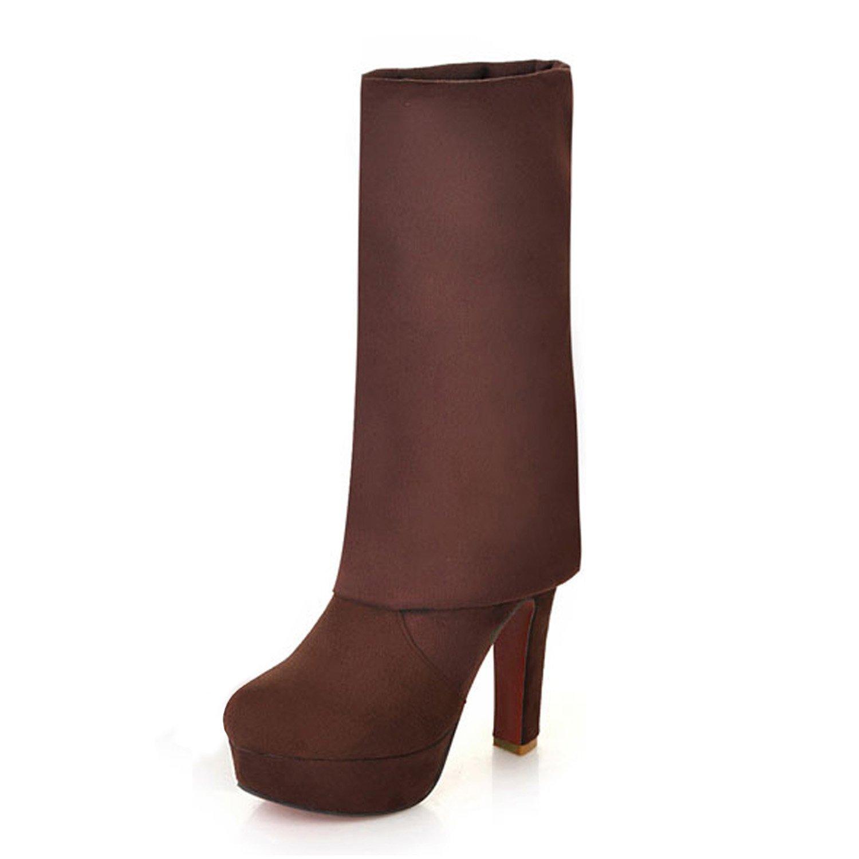 Nonbrand Damen Blockabsatz Oberschenkel Hohe Stiefel Blockabsatz Damen über Knie Leopard Schuhe 6fdf41