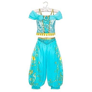 Disney Disfraz de jazmín niños, Multicolor, Large: Amazon.es: Ropa ...