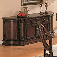 Coaster Home Furnishings 101034B Traditional Buffet, Dark Cherry