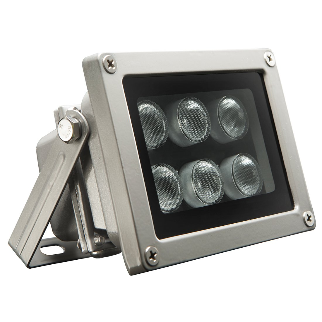 Univivi Infrared Illuminator, 850nm 6 LEDs 90 Degree Wide Angle IR Illuminator for Night Vision,Waterproof LED Infrared Light for IP Camera,CCTV Security Camera by Univivi