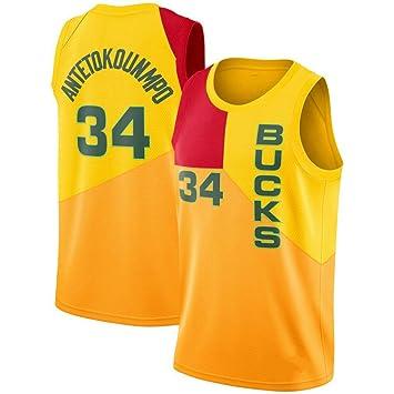 CRBsports Giannis Antetokounmpo, Camiseta De Baloncesto,Bucks,City Edition, Tela Bordada, Ropa Deportiva De Botín: Amazon.es: Deportes y aire libre