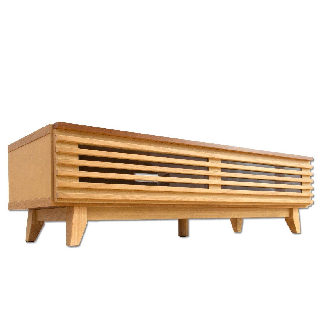タンスのゲン テレビ台 完成品 ローボード 120cm 木製 ナチュラル 71020020 NA B00HWMF8X8 幅120cm|ナチュラル ナチュラル 幅120cm