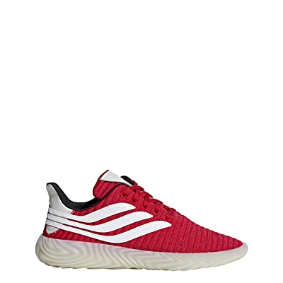 adidas Men's Originals Sobakov Scarlet/White/Black Suede Casual Shoes 11 M US: Sports & Outdoors