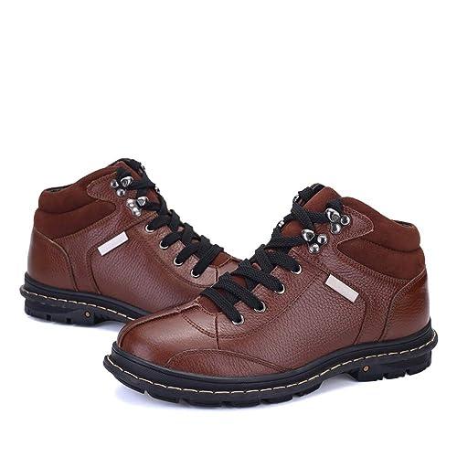 Botines de Moda para Hombre, cómodos y Altos, con Botas de Trabajo de Terciopelo: Amazon.es: Zapatos y complementos