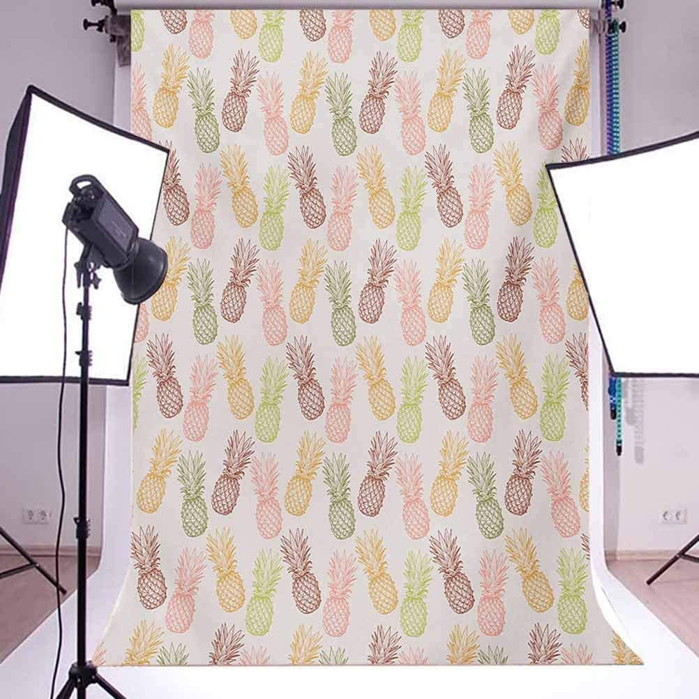 Pine 6.5x10 FT Photo Backdrops,Pines in Various Angles Exotic Natural Fruit Themed Vintage Sketch Pattern Background for Baby Shower Bridal Wedding Studio Photography Pictures Multicolor