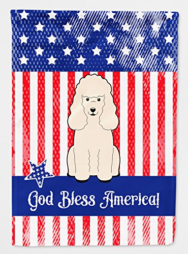 Caroline's Treasures BB3065GF Patriotic USA Poodle White Flag Garden Size , Small, multicolor (Poodle Size)