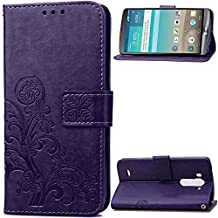 LG G3 Case, Mellonlu Premium PU Leather Wallet Style Wrist Strap Flip Folio Protective Case Cover for LG G3