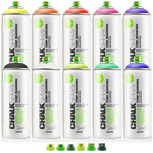 Montana Chalk Spray 10 Colors W/Cap Set by Montana
