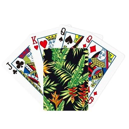 Amazon.com: Juego de cartas de dibujo de hojas tropicales ...