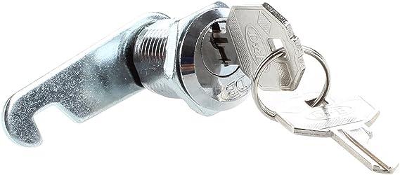 2 Cles Cikuso Serrure Batteuse a Came Barillet Pour Boite aux Lettres Tiroir 20mm