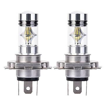 Echoming 2 Piezas H4/9003 LED Luces Antiniebla Bombilla de Coche,100W 2323 20SMD