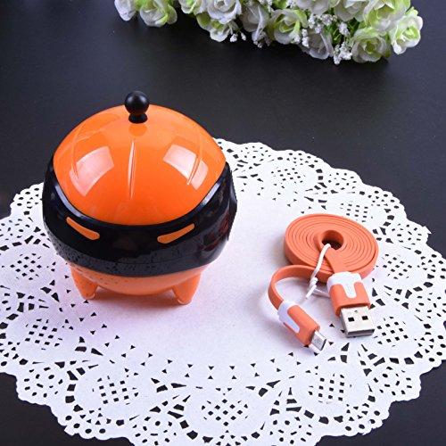 Banadim Contact Lens Vibration Auto Cleaner- Robot Character Orange (Orange Contact Lenses)