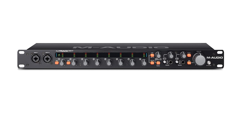 M-Audio M-Track Eight - Interfaz de audio USB de alta resolución con 8 canales, tecnología de preamplificación Octane exclusiva, ProTools | First y ...
