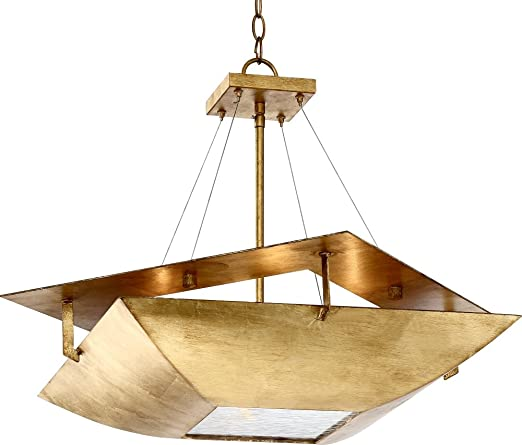 gold leaf chandelier fine art squared up 28 14quot wide gold leaf 4light chandelier 14