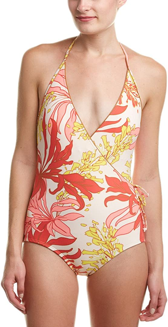 Vince Camuto Womens Flower One Piece Swimsuit
