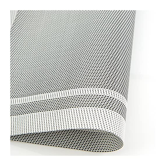 KeKe Home Placemats Set of 4| Vinyl PVC Placemat Table Mats | Non Slip | Heat Resistant (White) - A STYLISH ELEMENT TO YOUR TABLE SPREAD: Our beautiful set of 4 placemats will jazz up your dining tables, we have a wide variety of multiple colours and designs to choose from which makes them the perfect decoration piece for Christmas parties and for your festive table. HIGH QUALITY MATERIALS: KeKe placemats will protect your table from stains and scratches; they can be rolled up or flatted easy. Our mats are made out of 70% PVC and 30% polyester which are environmentally friendly. Out table mats are very durable, non-slip, no fading and heat resistant. They are safe to use, simple and easy to keep clean. THE PERFECT SIZE FOR ALL TABLES: Each mat measures L46xW30cm, Suitable for entertaining, home parties, family gatherings, everyday dining, restaurants or coffee shops. Our placemats come as a pack of 4 weighing 0.4KG. Each mat approx 1 millimetres thickness; stack them together for easy and minimal storage space. - placemats, kitchen-dining-room-table-linens, kitchen-dining-room - 61670b70ISL. SS570  -