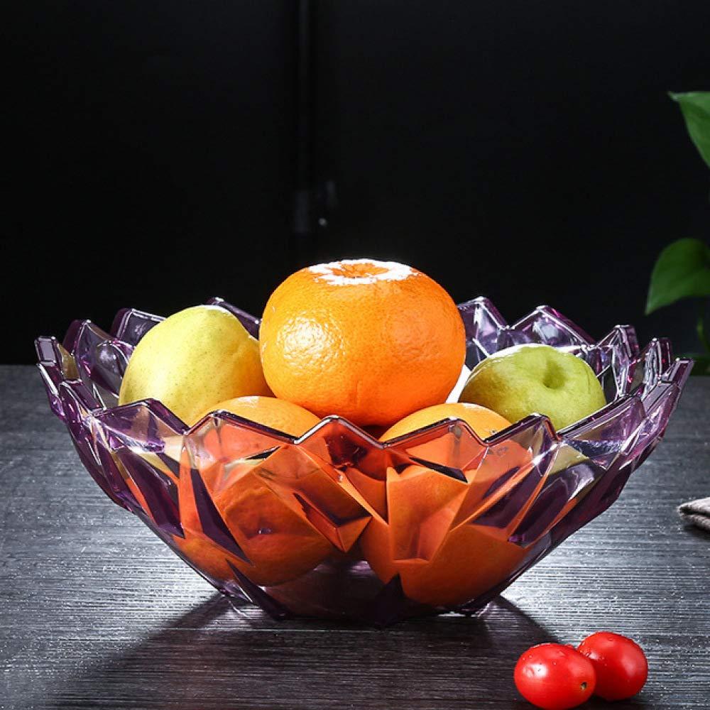 deepchina Salon Bol De Fruits Plat De Bonbons Creative Acrylique Noix Assiette Grand Cristal Melon Assiette De Fruits R/écipient De Stockage des Aliments Pourpre