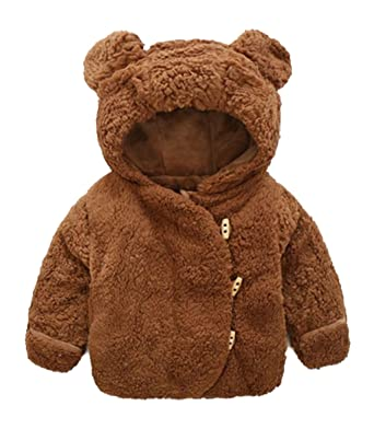 46fa0f7133eb Amazon.com  Infant Baby Boys Girls Cartoon Bear Animal Hooded Fleece ...