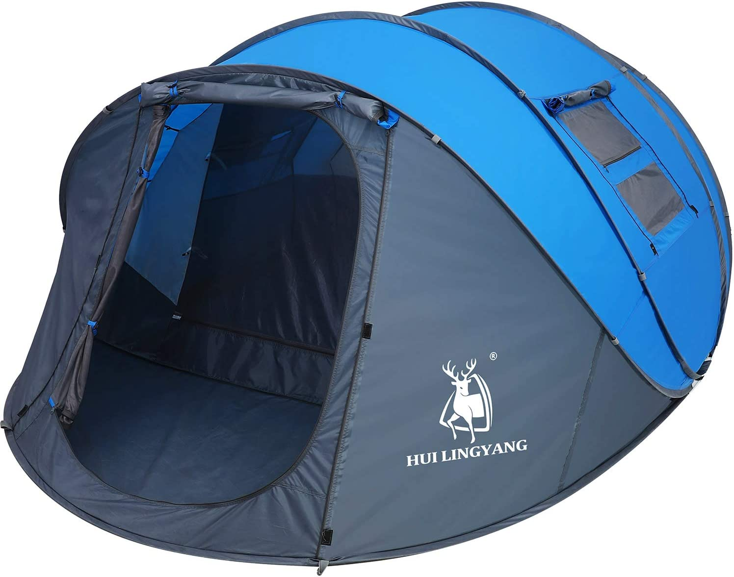 HUI LINGYANG 4 6 Person Easy Pop Up Tent | Instant Family Tent for Camping and Backpacking