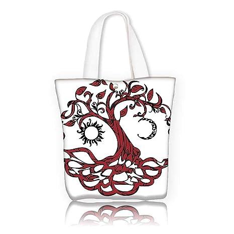 770b5fe17f Amazon.com  Canvas Shoulder Hand Bag -W17.7 x H14 x D7 INCH Shopping ...