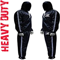 FIGHTSENSE MMA Sauna Sweat Suit Track Weight Loss Slimming Fitness Gym Exercise Training Added Hood Color White Anti-Rip