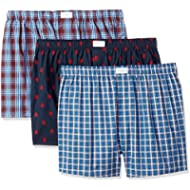 Tommy Hilfiger Men's 3 Pack Cotton Classics Woven Boxers