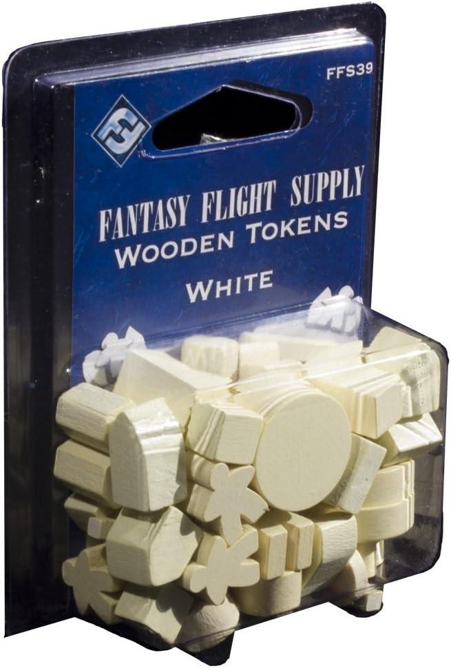 Fantasy Flight Games- Wooden Gaming Tokens: White, Color (FFS39)